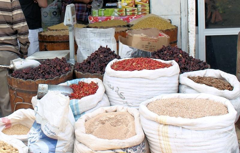 Gewürze auf dem einheimischen Markt in Hurghada