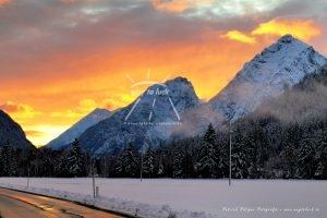 Alpen Winterlandschaft Österreich Tirol