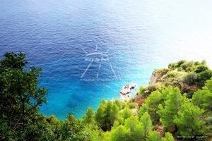 Amalfiküste Italien Meer Bäume