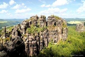 Elbsandsteingebirge Sächsische Schweiz Schrammsteinaussicht