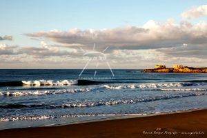Wellen Strand Meer Wolken Sizilien