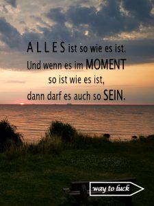 Zitat. Alles ist so wie es ist. Und wenn es im Moment so ist wie es ist, dann darf es auch so sein. - Patrick Rödiger.