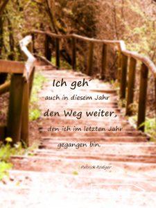 Zitat. Ich geh´ auch in diesem Jahr den Weg weiter, den ich im letzten Jahr gegangen bin. - Patrick Rödiger.